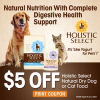 coupon for holistic select dog food