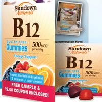 FREE Sample of Sundown Vitamin B12 Gummies (First 50,000)